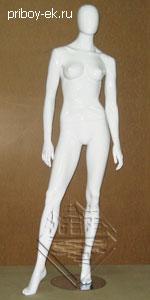 Манекен белый женский 180см